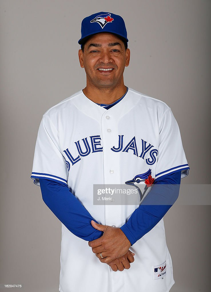 Third base coach Luis Rivera #63 of the Toronto Blue Jays poses for a photo during photo day at Florida Auto Exchange Stadium on February 18, 2013 in Dunedin, Florida.