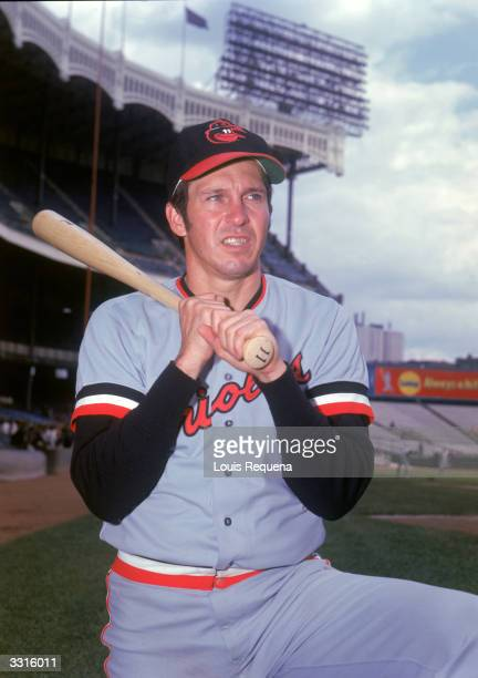 Third baseman Brooks Robinson of the Baltimore Orioles poses for a portrait circa 195577 in Yankee Stadium in Bronx New York