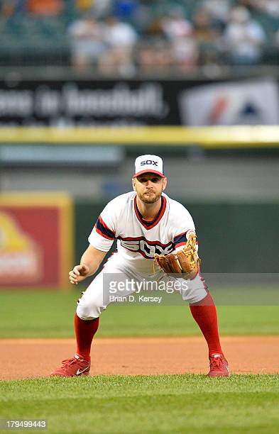 Third baseman Jeff Keppinger of the Chicago White Sox gets ready for the pitch during the first inning against the Houston Astros at US Cellular...