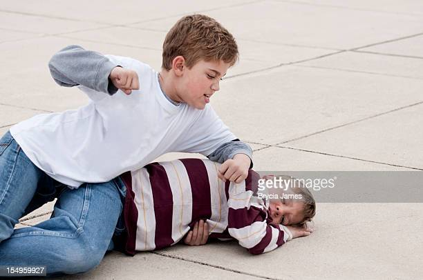Third Grade Boys Fighting