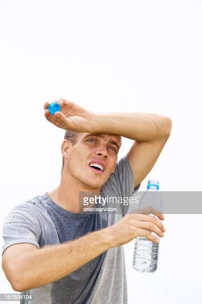 Thirsty Man Drinking