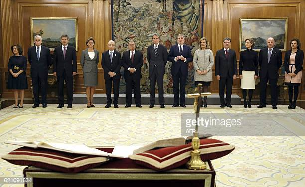 Thirteenth new ministers of the new government Spanish Deputy Prime Minister and Minister of the Regions Soraya Saenz de Santamaria Anton Spanish...
