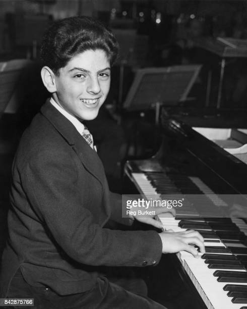 Thirteenyearold pianist Daniel Barenboim rehearses at the Royal Festival Hall in London for a concert with the Royal Philharmonic Orchestra 13th...