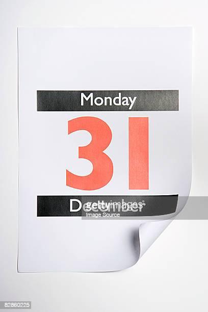 Thirty first december