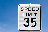 Thirty Five 35 Miles Per Hour Speed Limit Sign