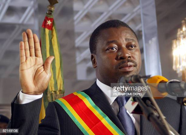 Thirty nineyearold Faure Gnassingbe swears to oath 07 February 2005 at the presidential palace in Lome Togo's new President Faure Gnassingbe was...