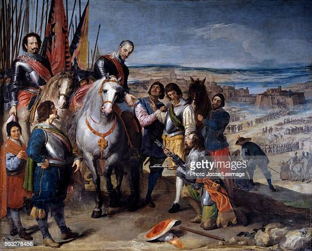 Thirty Years War The Surrender of Juliers The Dutch governor hands over the keys to the Marquis de Balbases Ambrosio de Spinola who captures Juelich...