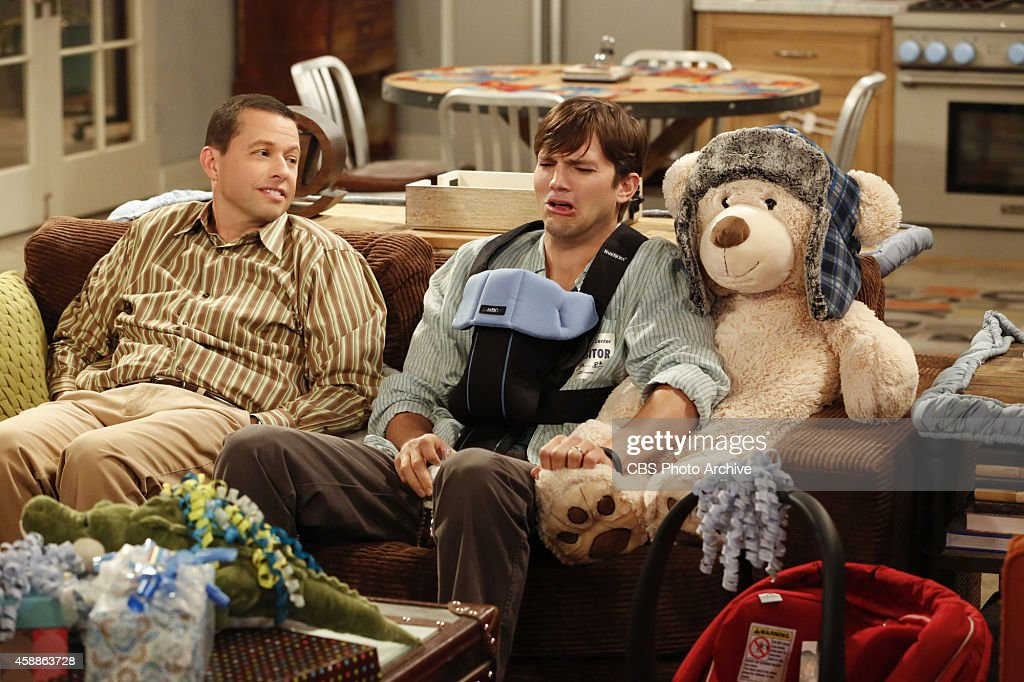 'Thirty-eight, sixty-two, thirty-eight' -- Walden and Alan meet a birth mother who's considering them to adopt her baby, on TWO AND A HALF MEN, Thursday, November 20, 2014 (9:00-9:30PM, ET/PT), on the CBS Television Network. Pictured L-R: <a gi-track='captionPersonalityLinkClicked' href=/galleries/search?phrase=Jon+Cryer&family=editorial&specificpeople=213483 ng-click='$event.stopPropagation()'>Jon Cryer</a> as Alan Harper and <a gi-track='captionPersonalityLinkClicked' href=/galleries/search?phrase=Ashton+Kutcher&family=editorial&specificpeople=202015 ng-click='$event.stopPropagation()'>Ashton Kutcher</a> as Walden Schmidt