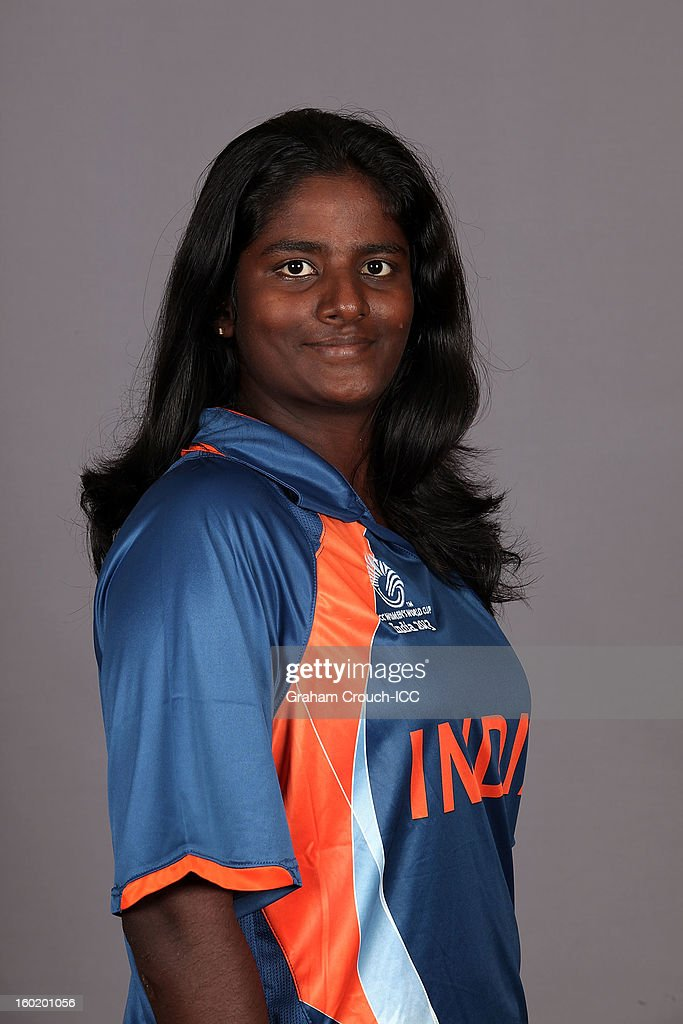 Thirushkamini M.D. of India poses at a portrait session ahead of the ICC Womens World Cup 2013 at the Taj Mahal Palace Hotel on January 27, 2013 in Mumbai, India.