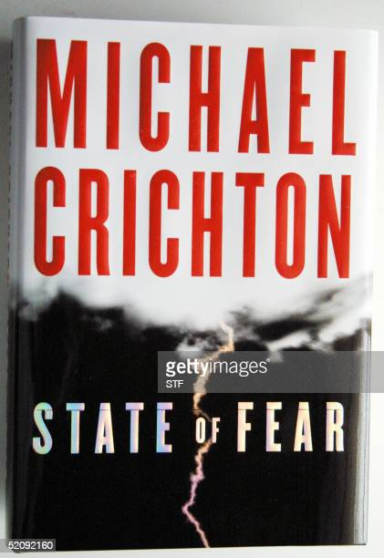 This 01 February 2005 image shows the cover of author Michael Crichton's newest book ' State of Fear' Michael Crichton author of 'Jurassic Park' and...
