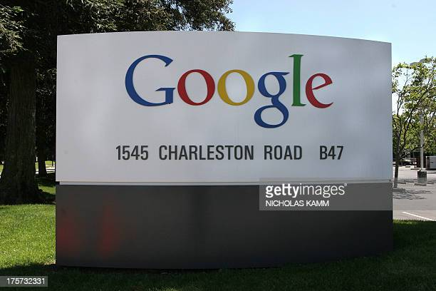 This 05 June 2005 file photo shows the logo of internet search engine company Google at their headquarters in Mountain View in Silicon Valley south...