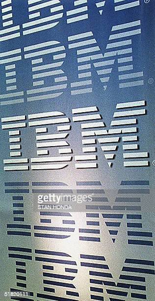 This 06 December file photo shows the IBM logo International Business Machines Corp has put its computer business up for sale the New York Times...