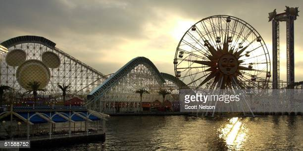 This 06 February 2001 photo shows Disney's new theme park 'California Adventure' in Anaheim CA A 55acre expansion of the Disneyland Resort...