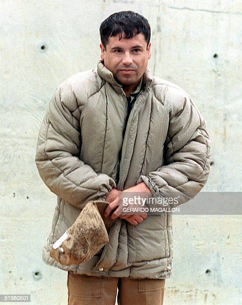This 10 July file photo shows drug trafficker Joaquin Guzman Loera 'el Chapo Guzman' at the Almoloya de Juarez Mexico maximum security prison Mexican...