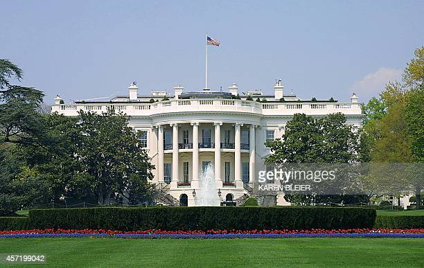 This 19 April 2005 photo shows the south side of the White House in Washington DC