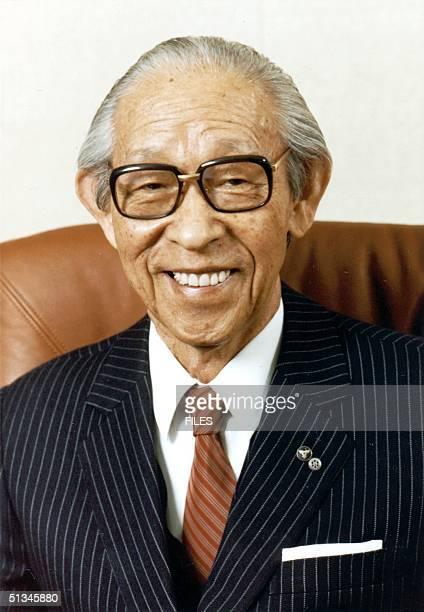 This 1982 file picture shows Konosuke Matsushita founder of Matsushita Electric Industrial known as Panasonic brand AFP PHOTO