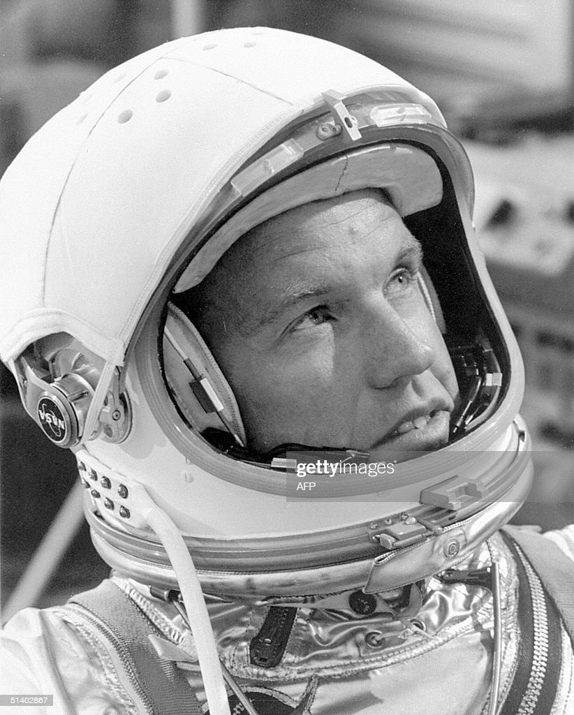 This 30 April, 1963 NASA file photo shows Leroy <a gi-track='captionPersonalityLinkClicked' href=/galleries/search?phrase=Gordon+Cooper+-+Astronaut&family=editorial&specificpeople=90970 ng-click='$event.stopPropagation()'>Gordon Cooper</a>, one of the nation's first astronauts who once set a space endurance record by traveling more than 3.3 million miles aboard Gemini 5 in 1965. NASA announced 04 October, 2004 that Cooper died at his home in Ventura, California. He was 77.