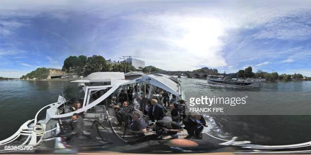 This 360 image taken on May 15 shows the Pont Neuf bridge off the River Seine as the International Olympic Committee Evaluation Commission continues...