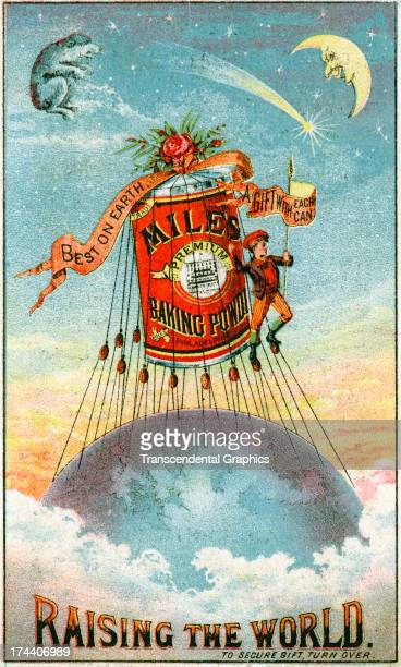 This advertising trade card is produced circa 1885 in New York City