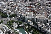 This aerial picture taken on July 14 2009 in Paris shows the Bastille place and Opera AFP PHOTO LOIC VENANCE