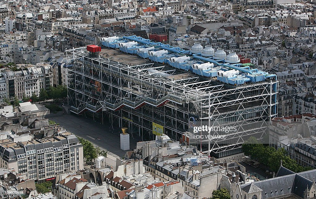 This aerial picture taken on July 14 2009 in Paris shows the Georges Pompidou center AFP PHOTO LOIC VENANCE