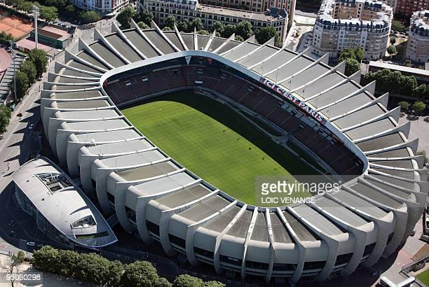 This aerial picture taken on July 14 2009 in Paris shows the Parc des Princes stadium AFP PHOTO LOIC VENANCE