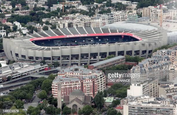 This aerial picture taken on July 14 2012 shows the Parc des Princes stadium in Paris AFP PHOTO / LOIC VENANCE