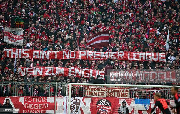 This aint no Premier league nein zum Englischen Modell Bayern fans 1 Bundesliga Fussball FC Bayern München Hamburger SV 8 0 Saison 2014/ 2015