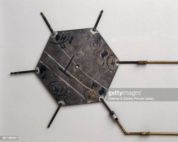 This aluminium template representing the base thymine is part of Crick and Watson�s model of DNA Bases are those groups of atoms that make up DNA's...