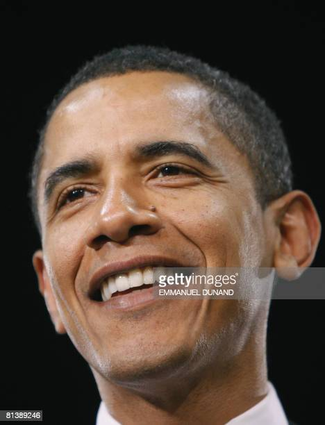 This April 17 2008 file photo shows US Democratic presidential candidate Illinois Senator Barack Obama during a townhall meeting at the Kerr Scott...