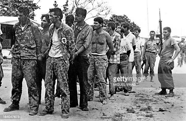 This April 1961 file photo shows a group of Cuban counterrevolutionaries members of Assault Brigade 2506 after their capture in the Bay of Pigs Cuba...