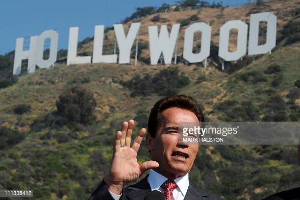 This April 26 2010 file photo shows then California Governor Arnold Schwarzenegger announcing that sufficient money had been raised to purchase and...