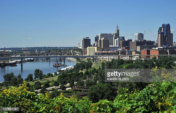 This August 25 2011 photo shows the skyline of St Paul Minnesota StPaul is the capital and secondmost populous city in Minnesota The city lies mostly...