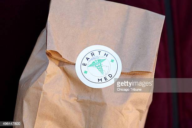 This bag contains medical marijuana belonging to Michael Murphy of Mokena Ill who suffers from postconcussion syndrome The bag is pictured outside...