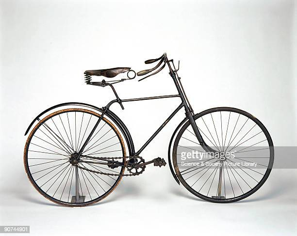 This bicycle contains several improvements patented by Mr G Singer in 1888 including a stage in the development of the diamond frame and was made by...