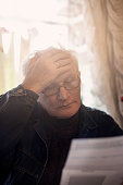 Depressed Senior Adult Man.
