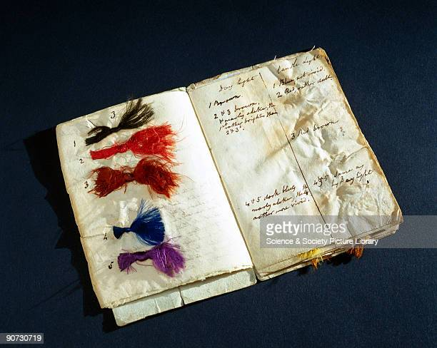 This booklet of threads was used by John Dalton to test his own colour blindness It was given to him by the astronomer Sir John Frederick William...