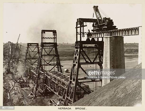 This bridge is being rebuilt after the old bridge was washed away in 1926 This bridge was on the Great Indian Peninsula Railway which opened in 1853...