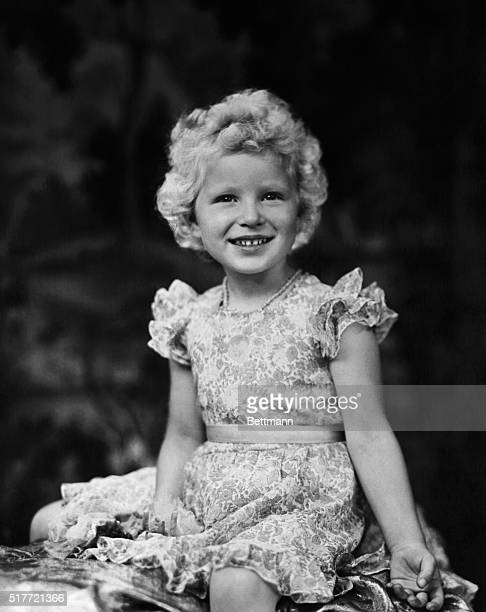 This charming study of Princess Anne daughter of Queen Elizabeth and the Duke of Edinburgh was made especially for her fourth birthday by Marcus...