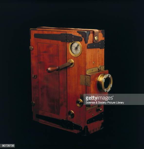 This cine camera was used by the travel photographer Herbert Ponting on Captain Robert Falcon Scott's illfated Antarctic expedition of 1910 Ponting...