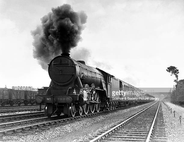 This class A1 number 103 Gresley Pacific locomotive was built for the London and North Eastern Railway It was used on the Flying Scotsman service a...