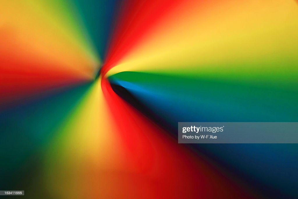 This colourful pattern with spinning colour wheel