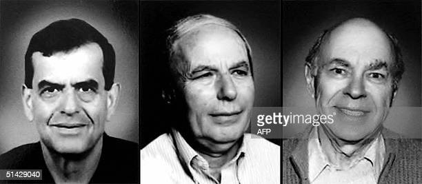 This combo image shows Aaron Ciechanover Avram Hershko both of Israel and Irwin Rose of the USA The three emn won the 2004 Nobel Chemistry Prize 06...