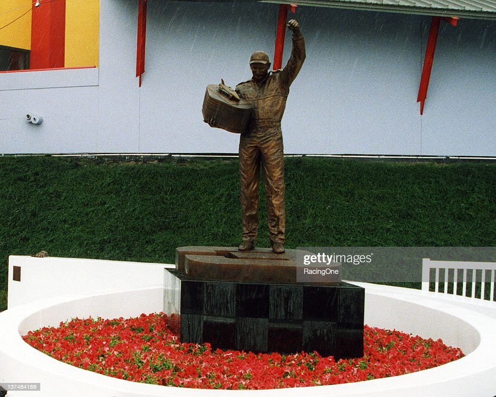 This commemorative statute in Dale Earnhardt's honor stands out front of the Daytona 500 Experience on the grounds of the Daytona International...