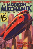 This cover for Modern Mechanix is produced for February 1945 in New York City