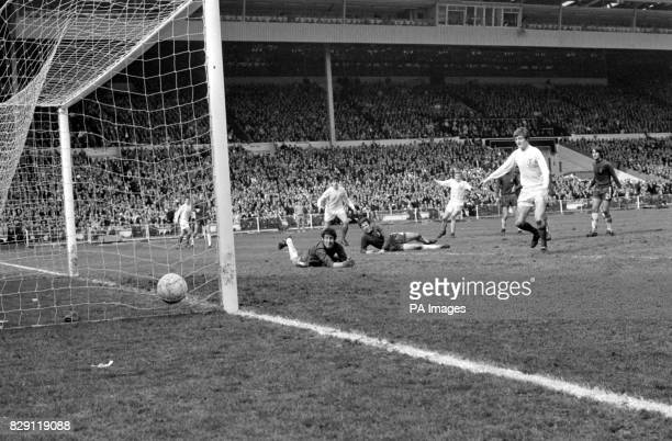 This Cup Final scene in 1970 when Mick Jones scored a goal for Leeds against Chelsea had a therapeutic effect on Martin Rohan nine who was watching...