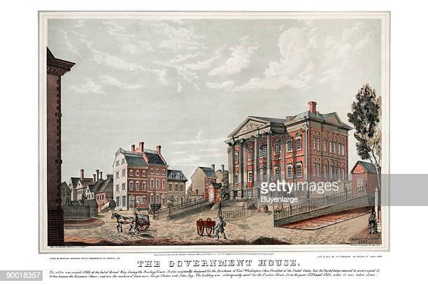 This edifice was erected in 1790 at the foot of Broad Way facing the Bowling Green It was originally designed for the residence of General Washington...