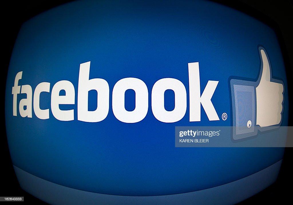 This February 25, 2013 photo taken in Washington, DC, shows the splash page for the Internet social media giant Facebook. AFP PHOTO / Karen BLEIER