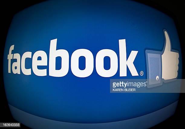 This February 25 2013 photo taken in Washington DC shows the splash page for the Internet social media giant Facebook AFP PHOTO / Karen BLEIER