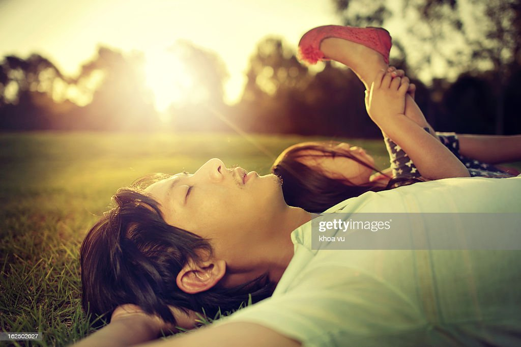 This feels like heaven : Stock Photo